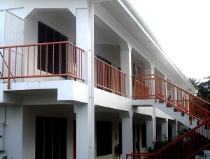 the double storey residence area.