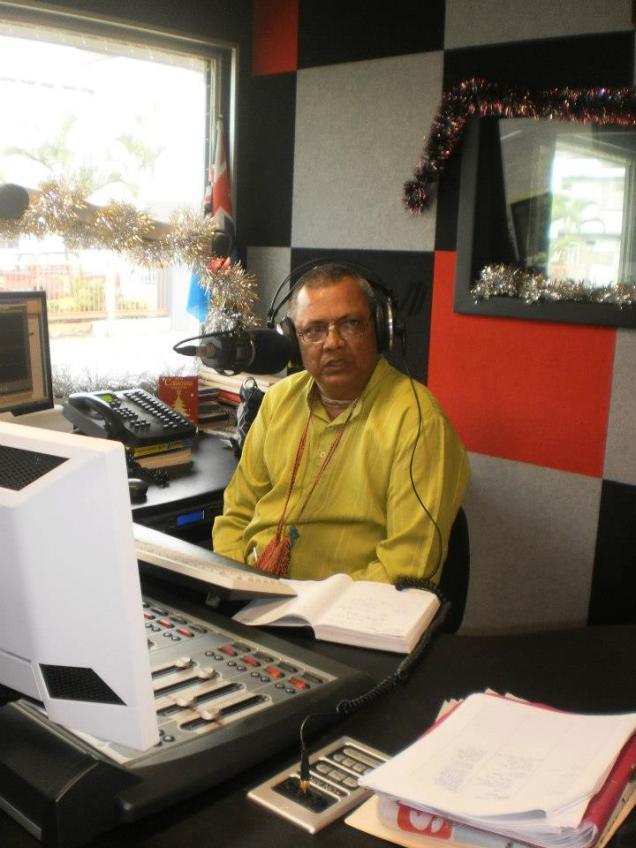 HG Sadasiva Prabhu during a radio program